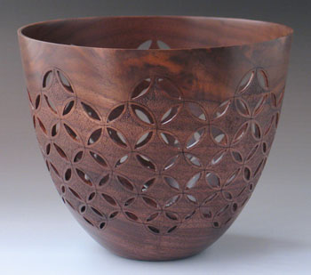 walnut vessel wood carving