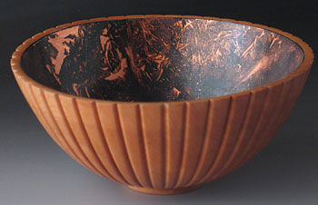 The Copper Flute - wood bowl carving