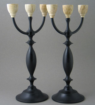 candlesticks wood carving